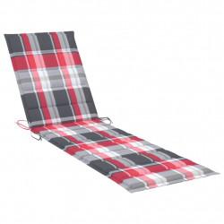 Sonata Шалте за шезлонг, червено каре, 200x50x4 см, текстил - Шезлонги