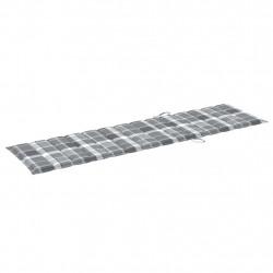 Sonata Шалте за шезлонг, сиво каре, 200x50x4 см, текстил - Шезлонги