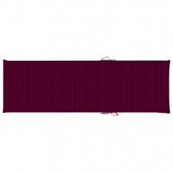 Sonata Шалте за шезлонг, виненочервено, 200x60x4 см, текстил - Шезлонги