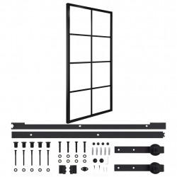 Sonata Плъзгаща врата, алуминий и ESG стъкло с хардуер, 102,5x205 см - Механизми