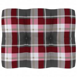 Sonata Палетна възглавница за диван, червено каре, 50x40x12 см - Градински Дивани и Пейки