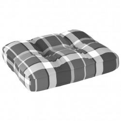 Sonata Палетна възглавница за диван, сиво каре, 50x40x12 см - Градински Дивани и Пейки