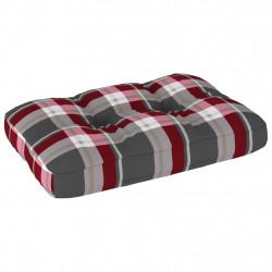 Sonata Палетна възглавница за диван, червено каре, 60x40x12 см - Градински Дивани и Пейки