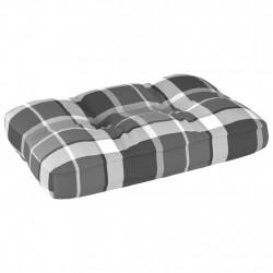 Sonata Палетна възглавница за диван, сиво каре, 60x40x12 см - Градински Дивани и Пейки