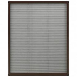 Sonata Алуминиев плисе комарник за прозорци, кафяв, 80x100 см - Дограми и Комарници