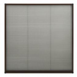 Sonata Алуминиев плисе комарник за прозорци, кафяв, 120x120 см - Дограми и Комарници