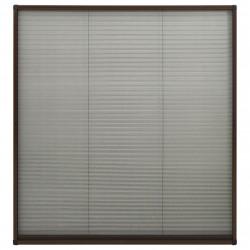 Sonata Алуминиев плисе комарник за прозорци, кафяв, 130x100 см - Дограми и Комарници