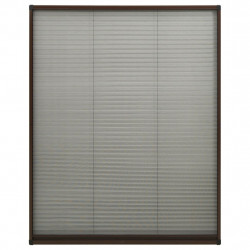 Sonata Алуминиев плисе комарник за прозорци, кафяв, 100x160 см - Дограми и Комарници