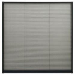 Sonata Алуминиев плисе комарник за прозорци, антрацит, 120x120 см - Дограми и Комарници