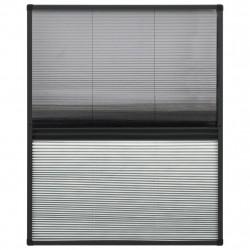 Sonata Алуминиев плисе комарник за прозорци със сенник, 60x80 см - Дограми и Комарници