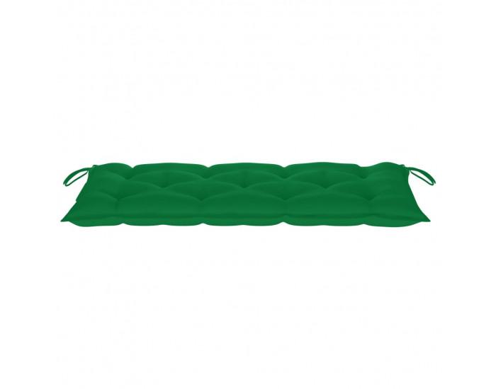 Sonata Възглавница за градинска пейка, зелена, 120x50x7 см, плат