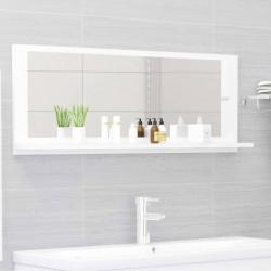 Sonata Огледало за баня, бяло, 100x10,5x37 см, ПДЧ - Шкафове за Баня