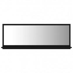 Sonata Огледало за баня, черно, 100x10,5x37 см, ПДЧ - Шкафове за Баня