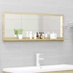 Sonata Огледало за баня, дъб сонома, 100x10,5x37 см, ПДЧ - Шкафове за Баня