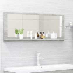 Sonata Огледало за баня, бетонно сиво, 100x10,5x37 см, ПДЧ - Шкафове за Баня