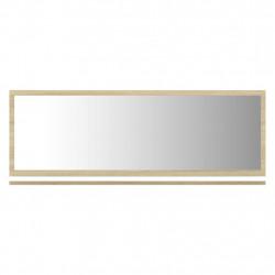 Sonata Огледало за баня, бяло и дъб сонома, 100x10,5x37 см, ПДЧ - Шкафове за Баня