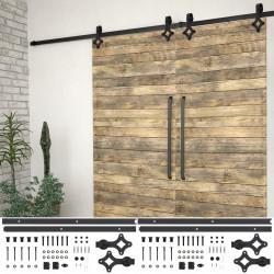 Sonata Механизми за плъзгаща врата, 2 бр, 183 см, стомана, черни - Механизми