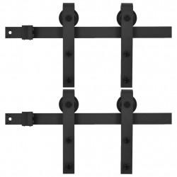 Sonata Механизми за плъзгаща врата, 2 бр, 200 см, стомана, черни - Механизми