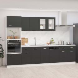 Sonata Комплект кухненски шкафове от 7 части, сив, ПДЧ - Сравняване на продукти