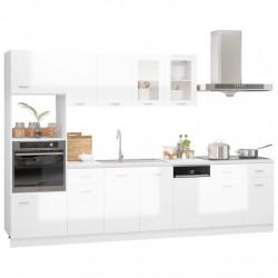 Sonata Комплект кухненски шкафове от 7 части, бял гланц, ПДЧ - Сравняване на продукти