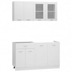 Sonata Комплект кухненски шкафове от 4 части, бял, ПДЧ - Сравняване на продукти