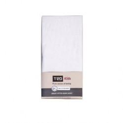 Бял чаршаф с ластик ТЕД, за бебе/дете - TED