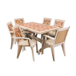 Градински комплект Melisa, правоъгълна маса, 6 стола - Градински комплекти