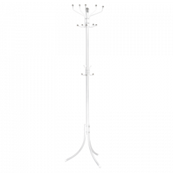 Закачалка за дрехи модел Memo-128 - бял - Закачалки