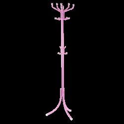 Закачалка за дрехи модел Memo-128 - розов - Закачалки