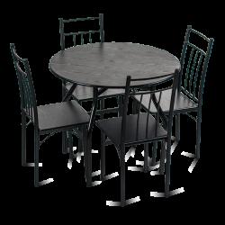 Комплект маса с 4 стола модел Memo-20010 - венге - Комплекти маси и столове