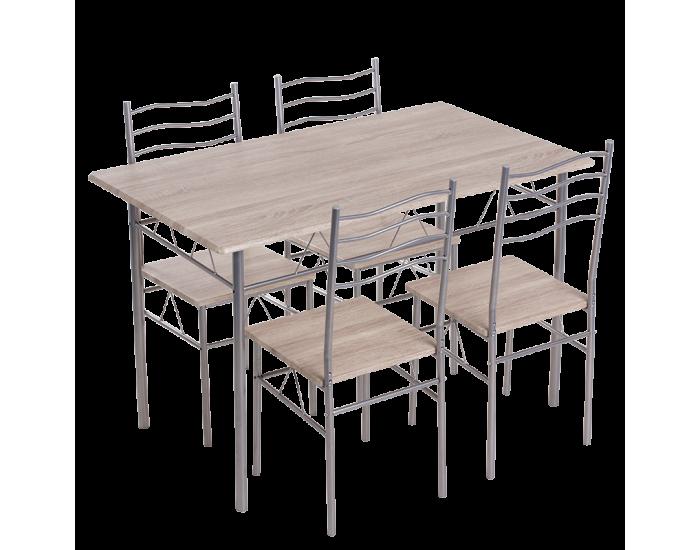 Комплект маса с 4 стола модел
