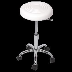 Табуретка с колелца модел Memo-3075 - бял - Мека мебел