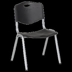 Пластмасов Посетителски Стол  9931 - Черен - Градински столове