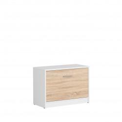 Шкаф за обувки Nepo SFK1K, Дъб сонома / Бяло - Шкафове за обувки