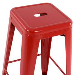Бар стол модел Melita, червен - Мебели Богдан