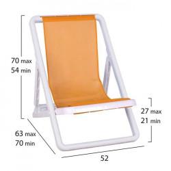 Плажен стол Sandi, оранжев - Мебели Богдан