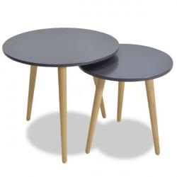 Сет 2 масички Мебели Богдан модел Smit, черно - Мебели Богдан