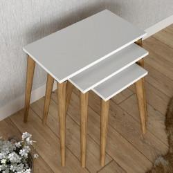 Сет 3 масички Мебели Богдан модел Mouz, бяло - Мебели Богдан