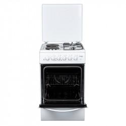Готварска печка (ток/газ) Crown CR-5050V , 2 газ 2ток , Бял - Готварски печки