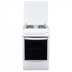 Готварска печка (ток) Crown CR-50E50 , 4 ток , Бял - Готварски печки