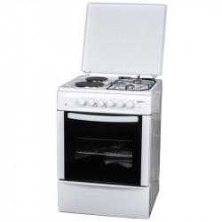 Готварска печка (ток/газ) Crown CR-6060V , 2 газ 2ток , Бял - Готварски печки