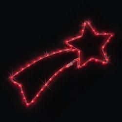 Комета 100 червени или студено бели LED лампички - Сезонни и Празнични Декорации