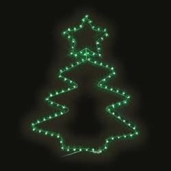Коледна елха със звезда - 48 зелени LED лампички - Сезонни и Празнични Декорации