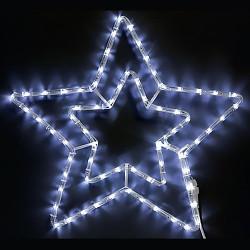 Двойна звезда, 150 червени или студено бели LED лампички - Сезонни и Празнични Декорации