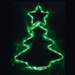 Коледна елха - 72 зелени LED лампички - Сезонни и Празнични Декорации