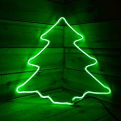 Елха неон - 120 зелени LED лампички - Сезонни и Празнични Декорации