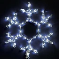 Снежинка, 72 студено бяло LED лампички - Сезонни и Празнични Декорации