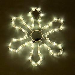 Снежинка, 48 топло бели LED лампички - Сезонни и Празнични Декорации