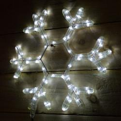 Снежинка, 72 топло бяло LED лампички - Сезонни и Празнични Декорации