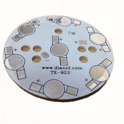 Кръгла алуминиева платка за светодиодно тяло 7W - Мебели и Интериор
